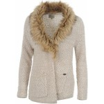 firetrap fur collar knitted cardigan ladies ecru lurex 150x150 Vero Moda Emma