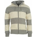 pánské svetry Lee Cooper - Striped Knit Cardigan Mens