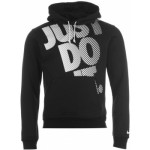 nike just do it over the head hoody mens black white 150x150 Nike Track